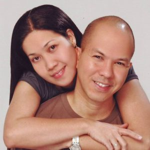 Ruperto Mendoza with wife