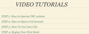 TRC Video Tutorials